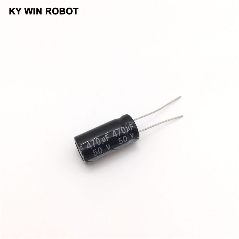 10pcs Electrolytic Capacitors 470UF 50V 10x20mm 105C Radial High-frequency Low Resistance Electrolytic Capacitor