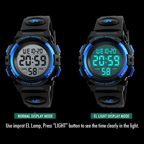 Children Watches LED Digital Multifunctional Waterproof Wristwatches Outdoor Sports Watches for Kids Boy Girls SKMEI 2018 Islamabad