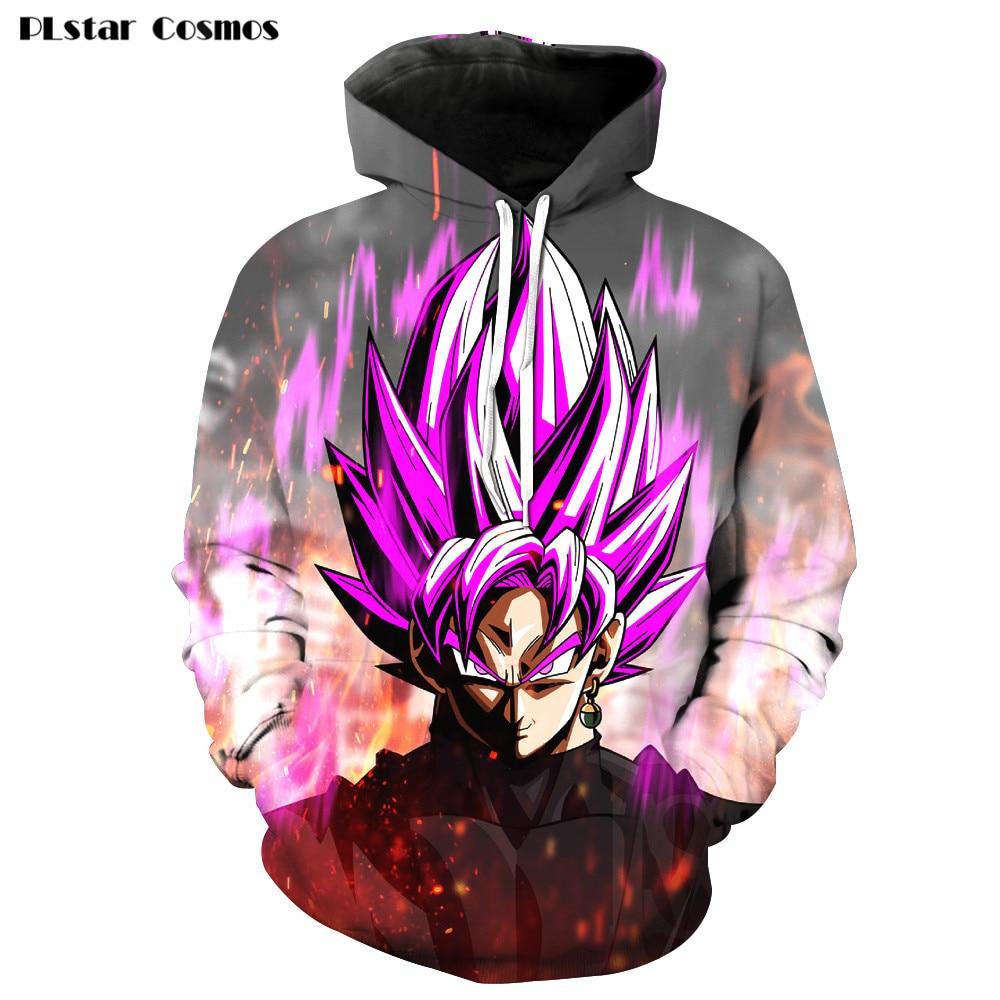 PLstar Cosmos 2018 Men/Women 3D Print Hoodies Anime Dragon Ball Z DBZ Goku Kids Cute Hooded Pullovers Sweatshirts Harajuku