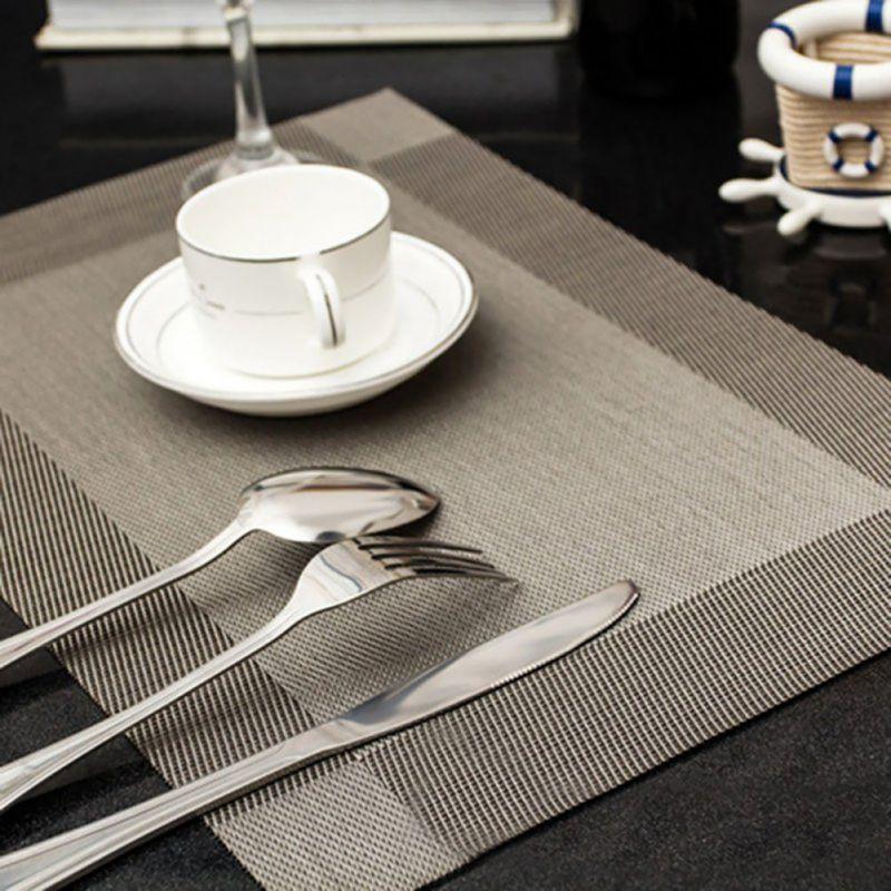 4 pcs Placemat fesyen meja pvc meja makan pad cakera pad mangkuk pad - Dapur, makan dan bar
