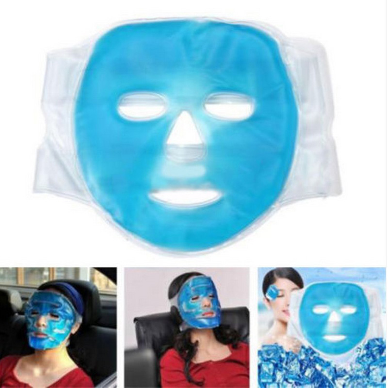 New Fashion Gel Hot Ice Pack Cooling Face Mask Pain Headache Relief Chillow Pillow Relaxing Face Massage 6 pack face