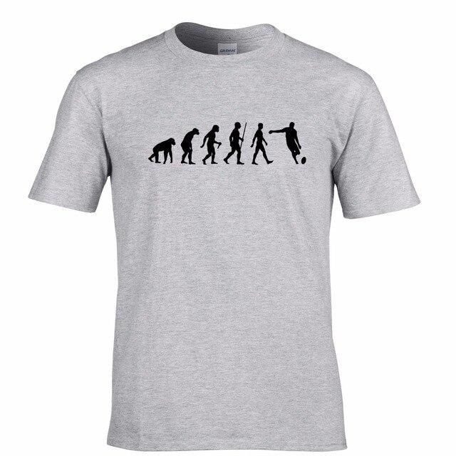 Nova Primavera de Alta-Elástico Roupas de Algodão Nova Marca Engraçado Evolução Da União Rugbyer Premiership Entre Em Contato Tentar Passar Mensagens T camisa