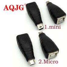 Mini Micro USB 5pin męski na USB 2.0 B typ żeński do skanera, drukarki złącze adaptera M/F USB wysokiej jakości 2.0