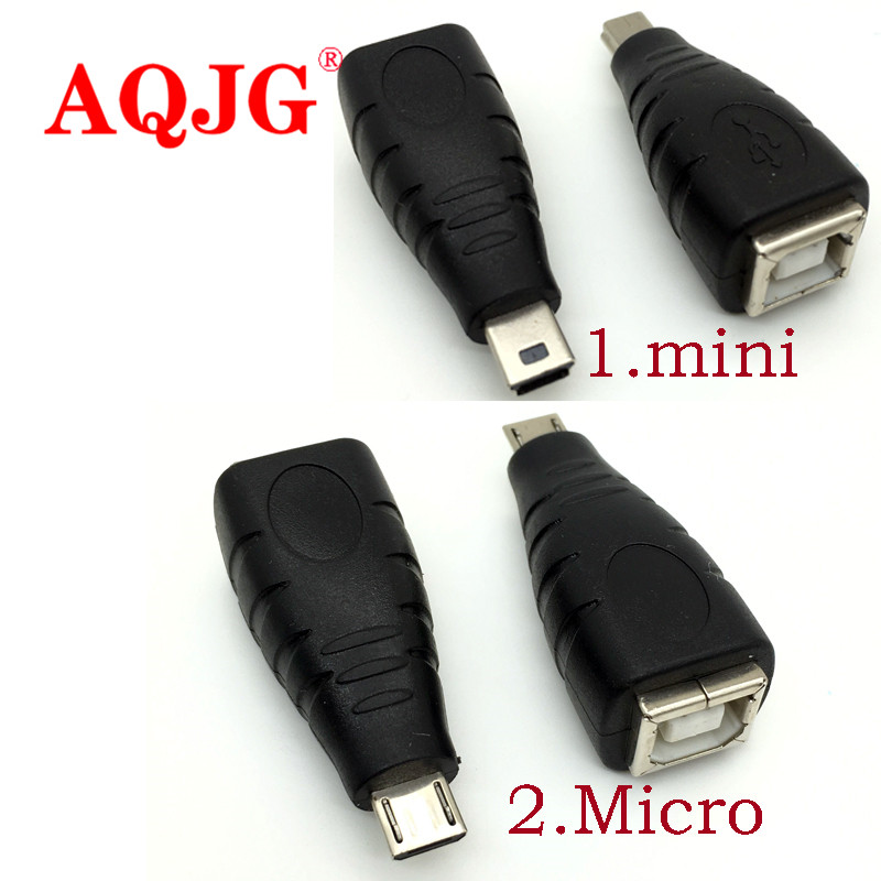 Mini Micro USB 5pin male to USB 2.0 B Type Female Printer Scanner Adapter connector M/F High quality usb 2.0 10pcs g45 usb b type female socket connector for printer data interface high quality sell at a loss usa belarus ukraine