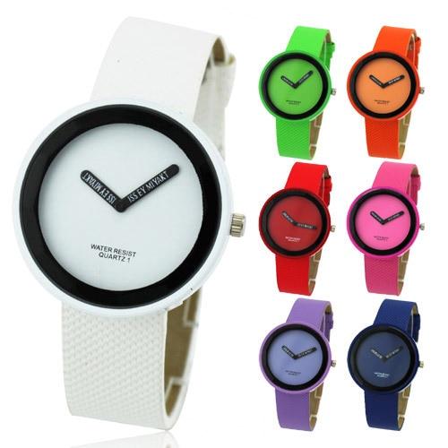 2016 Womage Women Quartz Watches 13 Candy Color Cute Sport PU Leather Strap Simple Fashion Wristwatch Relogio Feminino