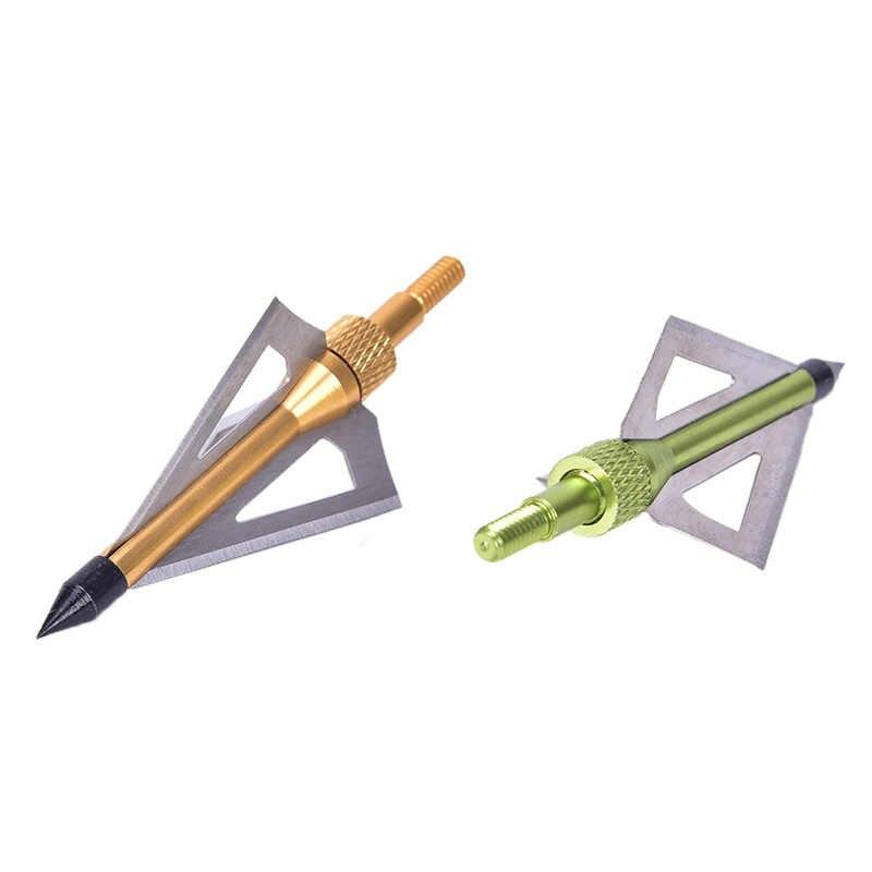 狩猟矢印ヒント 110 粒矢印化合物弓アーチェリーアクセサリー矢じりステンレス合金 3 固定シャープブレードヘッド