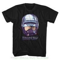 Top Quality T Shirts Men O Neck Robocop 90s Chrome Black Men S Adult Short Sleeve