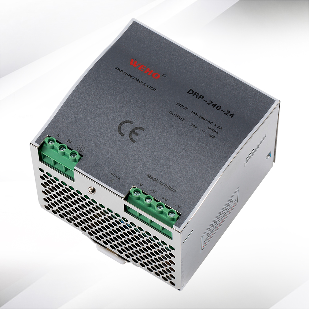 (DRP-240-24) refroidissement en aluminium shell 240 W 10A 24 V alimentation à découpage 240 w 24 v dc din rail alimentations - 3