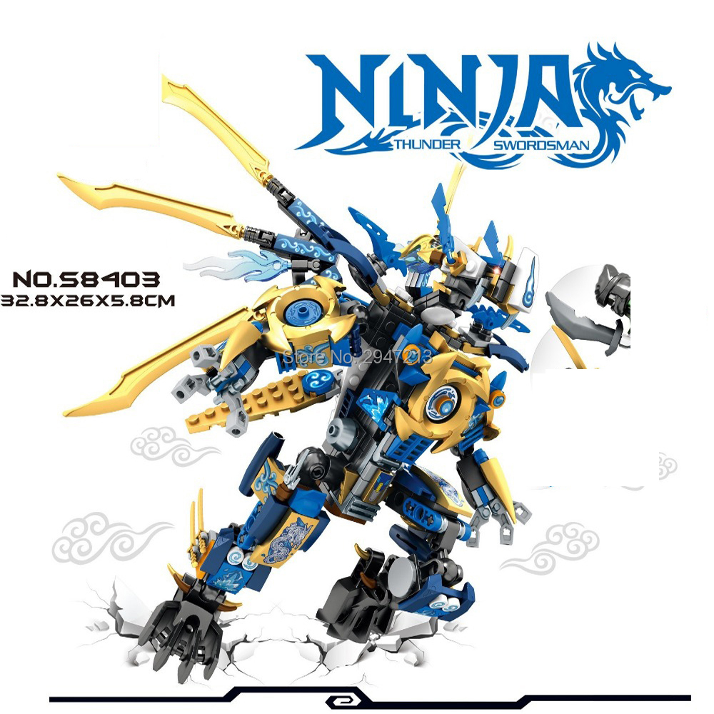 2017 hot compatible LegoINGlys NinjagoINGlys Building blocks Blue spirit flame Dragon Mech with ninja figures weapons brick toys ninjago set green mech dragon building blocks kids hot toys ninja bricks mini action figures enlighten toy legoinglys figure