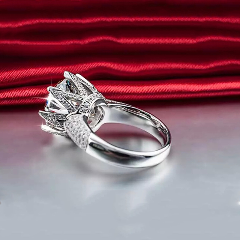 Big Stone 8 karat glans kristallringar för kvinnor Vintage - Märkessmycken - Foto 4