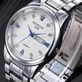 Top Brand Luxury Lovers' Couple Watches Stainless Steel Men Calendar Waterproof Watch Women Gold Quartz Wristwatch Montre Homme