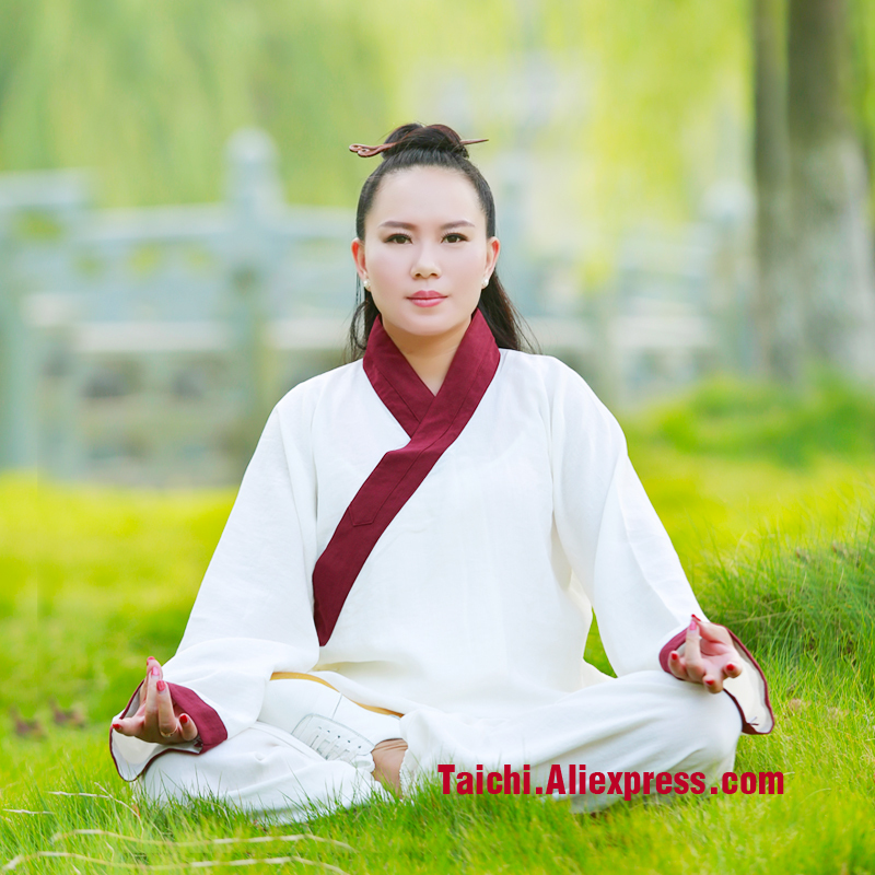 Wudang Tai chi clothing summer uniforms Hanfu linen Tai Chi uniforms Kung Fu performance clothing Wushu Clothing martial art autumn and winter thick linen kung fu clothes chinese men and women style tai chi uniforms tai chi martial arts wudang clothing