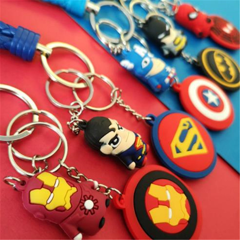 Avengers Endgame Cosplay Keychain Character Props Arms Spider Man Captain America 39 s Shield Stereoscopic Soft Glue Gift Pendant in Costume Props from Novelty amp Special Use