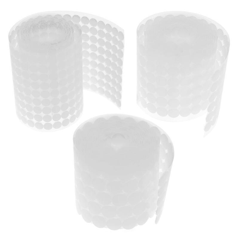 50 x 13mm autocollante noir crochet /& boucle attache dots discs 25 crochet /& 25 boucle
