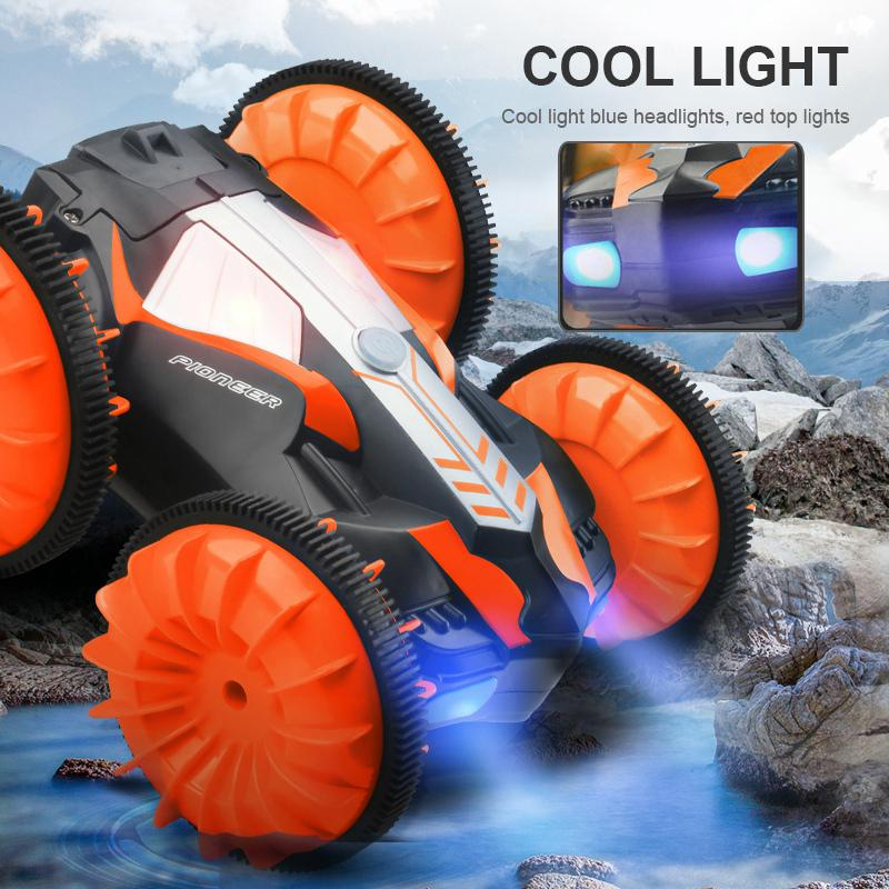 Image 5 - RC Amphibious Stunt Car Waterproof 360 Degree Rotation Remote Control Car Power Speed Vehicle Toys for Kids-in RC Cars from Toys & Hobbies