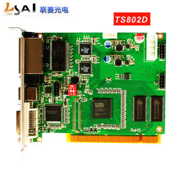 цена 2019Linsn TS802D control system Sending card For Large Full color LED display LED controller card онлайн в 2017 году