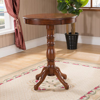 American solid wood home bar table European style round high bar table