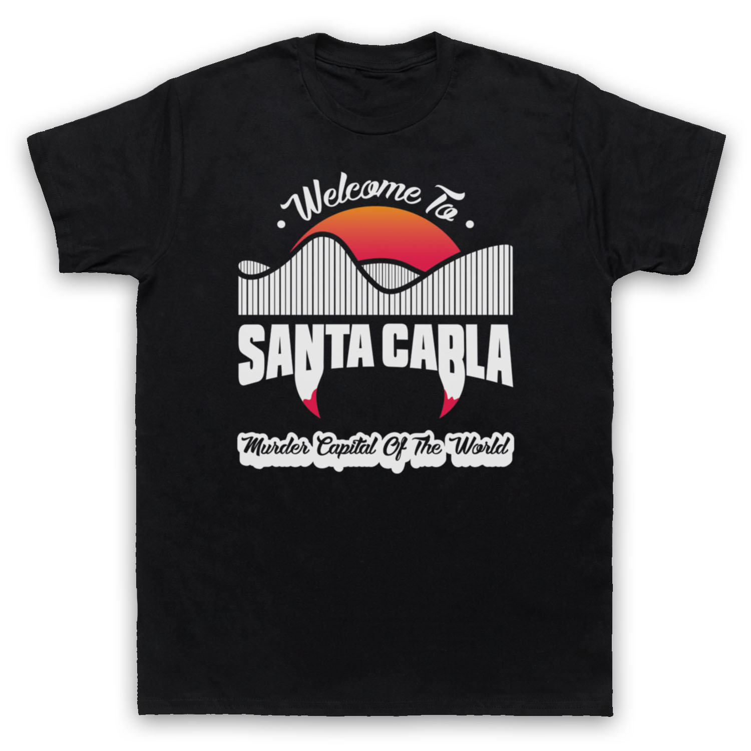 Trend Websites Welcome To Santa Carla Murder Capital Of The World The Lost Boys T-shirts Men's Cotton O-Neck Tees
