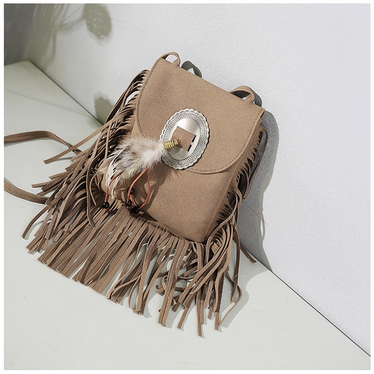 Women Purse Tassel Boho Hippie Gypsy Fringed Tote Handbag Womens 2018 New Vintage Bohemian Fringe Messenger Crossbody Bag