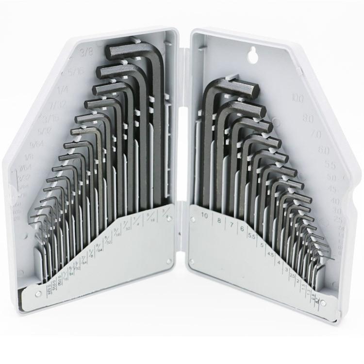 30pcs/set Added Long Metric Hexagon Hex Key Ball End Set Allen Keys Wrench Spanner Cr-V Spanner  цены