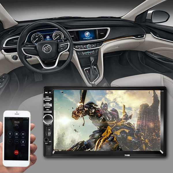 Новый 7 2 Din Сенсорный экран автомобиля MP5 плеер Bluetooth Стерео FM радио USB/TF AUX In