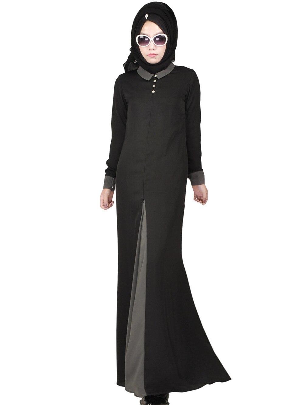 Nouveauté islamique musulman longue robe pour les femmes malaisie abayas à dubaï turc dames vêtements de haute qualité longue robe KJ