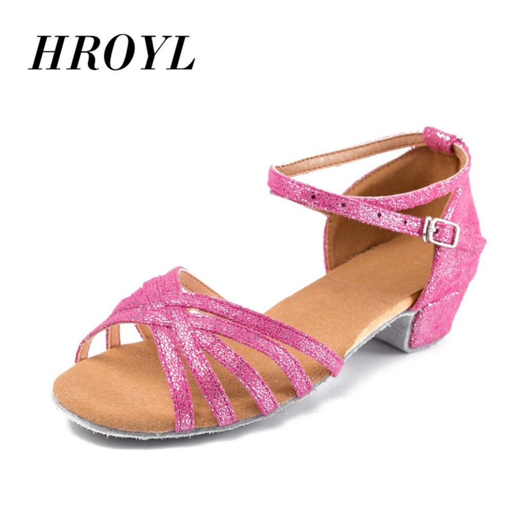 Zapatos de baile de alta calidad recién llegados al por mayor para niñas/niños/baile de salón tango salsa zapatos de baile latino zapatos de tacón bajo