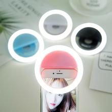 Portable USB Charge Clip-on LED Ring Selfie Light for Cell Phone Photographic
