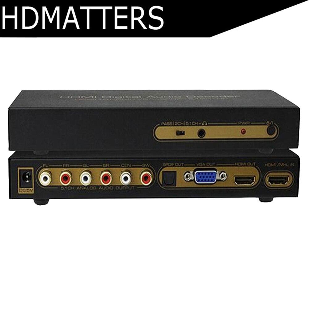 5 1ch hdmi digital audio decoder converter hdmi to vga. Black Bedroom Furniture Sets. Home Design Ideas
