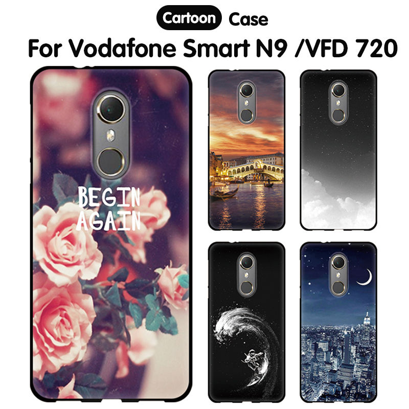 Case For Vodafone Smart N9 Case Cover Silicone Tpu Cartoon Soft Coque For Case Vodafone Smart N9 VFD-720 Capa Back Cover