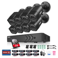 ANNKE 8 X 1500TVL 720P Outdoor CCTV Cameras 1080N TVI 4in1 8CH DVR Security System Surveillance