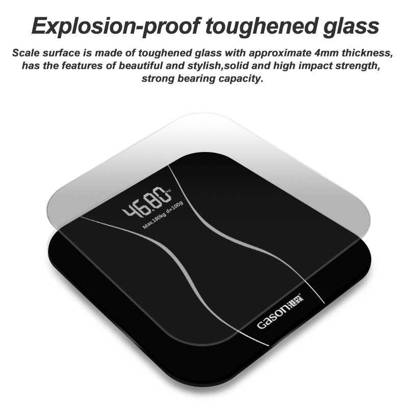 Original GASON A2 balances électroniques de sol Smart ménage numérique Balance corporelle salle de bain Balance de poids maison Balance LCD affichage