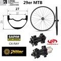 Toray углеродное волокно 29er MTB колеса для XC AM 27 мм ширина 23 мм Глубина горный велосипед колесная с Powerway M42 прямой Тяговый концентратор