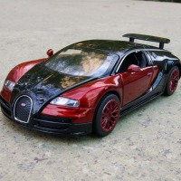1 32 Scale Bugatti Veyron Coches Jugetes Diecast Car Model Autos A Escala Pull Back Toy