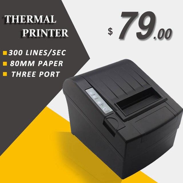 8220 80 мм тепловая чековый принтер 80 pos принтер билетов для магазина супермаркета с usb/ethernet/serial interface