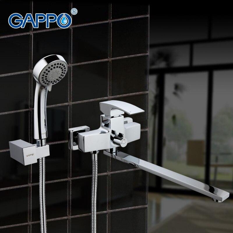 GAPPO baignoire évier robinet mélangeur salle de bains Robinet de douche baignoire Mur robinets bassin évier mélangeur Bain Douche ensemble robinet Cascade GA2207