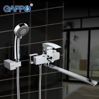 GAPPO 1set Waterfall Wall Mount Bathtub Sink Faucet Basin Sink Mixer Home Mixer Tap Grifo Torneira