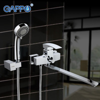 GAPPO 1set Waterfall Wall Mount Bathtub Sink Faucet Basin Sink Mixer Home Mixer Tap Grifo Torneira