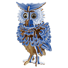 Wooden Puzzle Game Woodcraft Owl DIY 3D Wooden Owl Puzzle Assembly Toy Gift for Children Adult Children Birthday Gift Toy