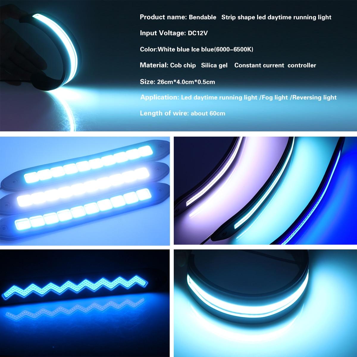 LEADTOPS 21cm Car Flexible LED DRL Light High Power Car Driving ...