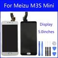 Preto/branco 5 polegada para meizu m3s mini y685c y685q y685m/meizu meilan 3 s display lcd + digitador da tela de toque montagem