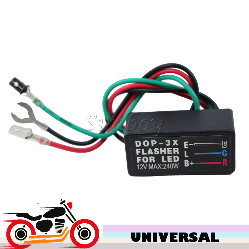 12V 240W Motorcycle Bike Flasher Universal LED Turn Signal Blinker ...