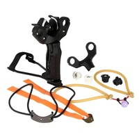 Bowfishing Slingshot archery arrow free bind wrist hold Sling Shot with replacement bow head set