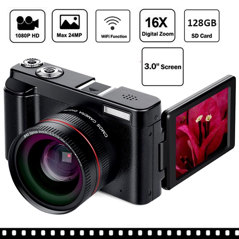Nouveau Wifi appareil photo numérique 3 Pouces Rotatif écran lcd 16X Numérique Zoom 13MP CMOS Caméscopes DSLR Anti-Secousse Caméra Ensemble