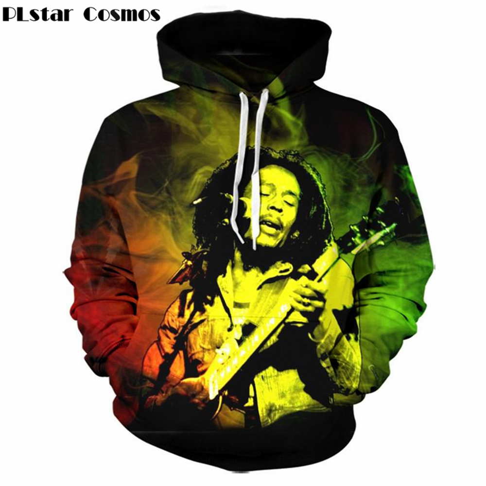 YX GIRL Bob Marley hip hop Sweatshirt 2018 New Fashion Autumn Winter Men/Women Clothing Casual Outwear Tracksuit