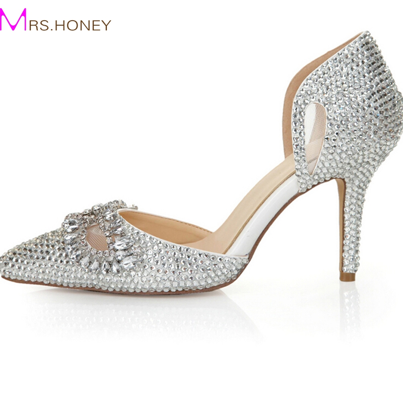 Popular Silver Rhinestone Heels-Buy Cheap Silver Rhinestone Heels ...