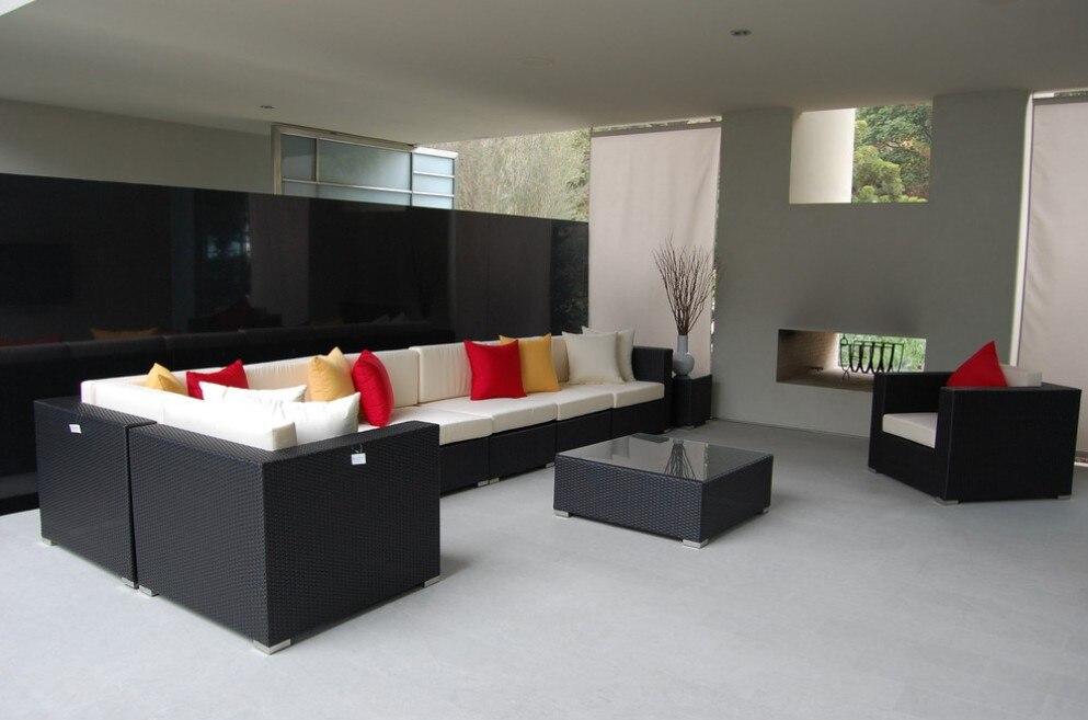 2017 Comfortable Designs Outdoor Indoor Rattan Furniture 9 Piece Wicker Patio Sectional Sofa Set China