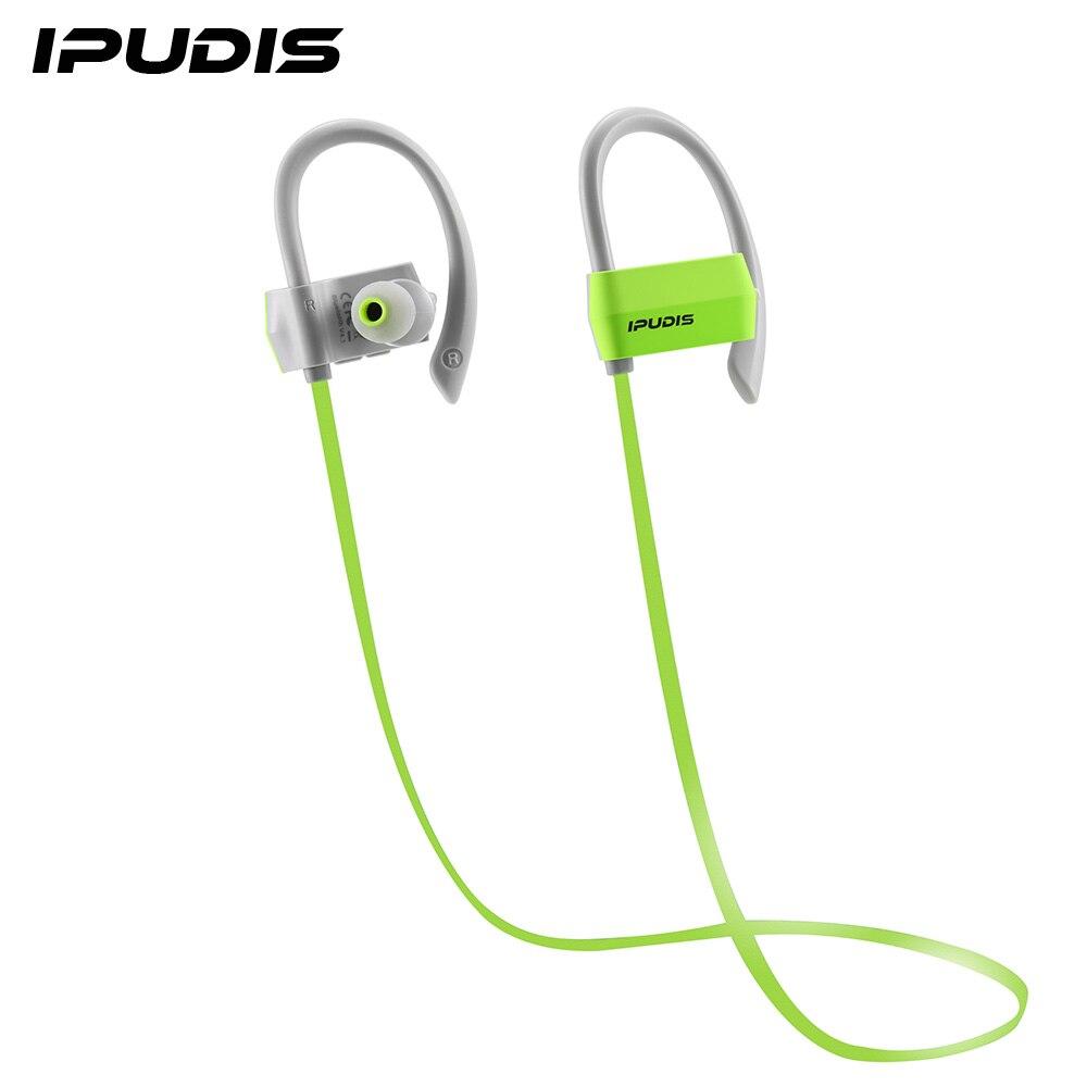 bilder für IPUDIS Sport Bluetooth Kopfhörer Ohrbügel Drahtlose Kopfhörer für Workout Nano-beschichtung Wasserdicht 80 mAh Noise Cancelling