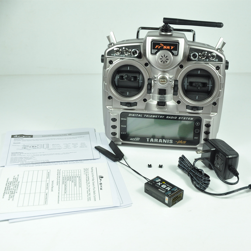 FrSky TARANIS X9D PLUS 2.4G 16ch Digital Telemetry Transmitter +X8R Receiver +Neck Strap+Battery Mode 2 free shipping frsky 2 4ghz accst taranis x9d plus digital telemetry transmitter radio system set receiver x8r neck strap adapter