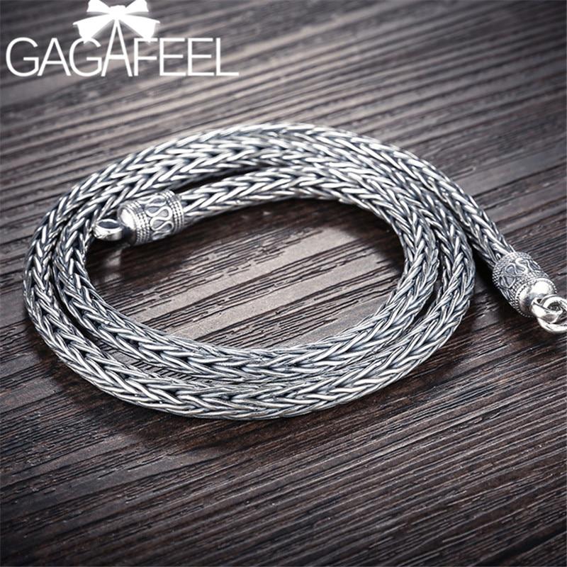 GAGAFEEL 4/5 MM épaisseur chaîne 925 argent Sterling mâle colliers hommes lourds serpent colliers hommes bijoux de haute qualité